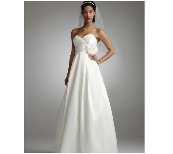Bridal Satin A Line Gown