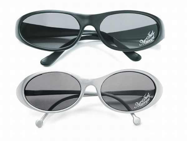 Bride and Groom Just Married Sunglasses