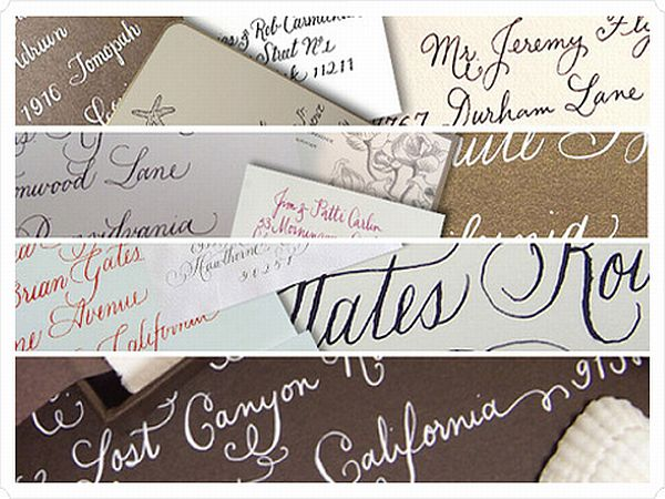 Calligraphy invitation cards