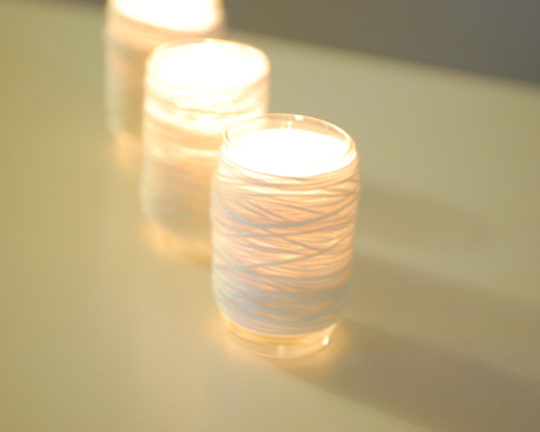DIY: Cozy looking votive candle holders