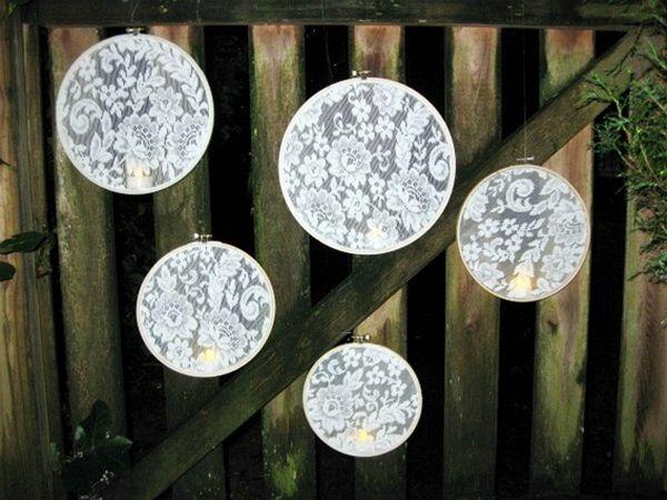 DIY Lovely lace lanterns