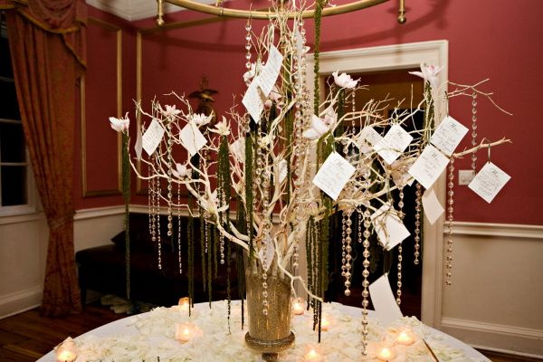 DIY wedding wishing tree