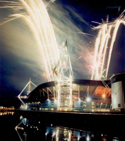 fireworks wedding ceremony