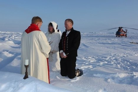First ever North Pole wedding