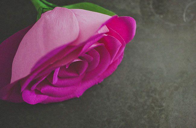 Giant paper rose flower wedding bouquet
