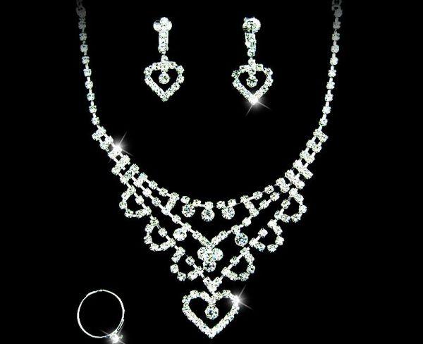 Gorgeous Alloy With Czech Rhinestones Wedding Bridal Jewelry Set