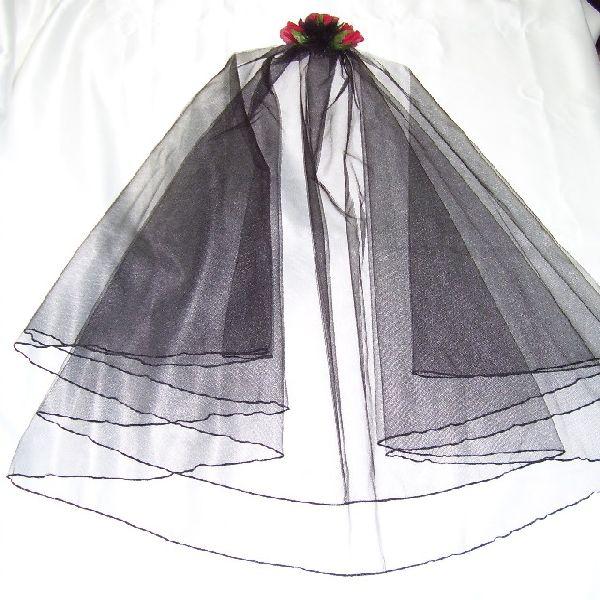 Gothic bridal veil