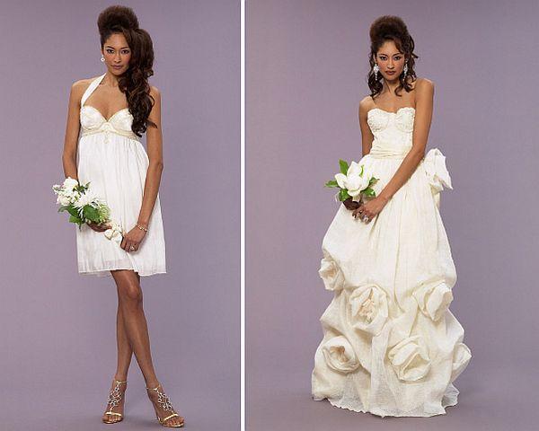 Organic wedding gowns