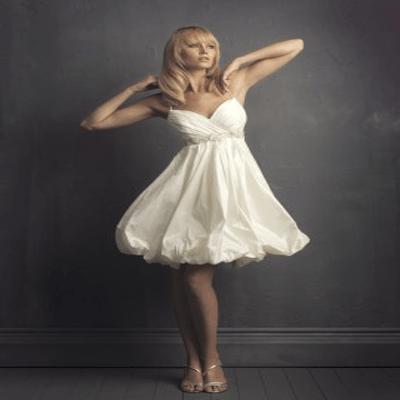 paghetti Straps Short Wedding Dress Knee Length MBDS1029