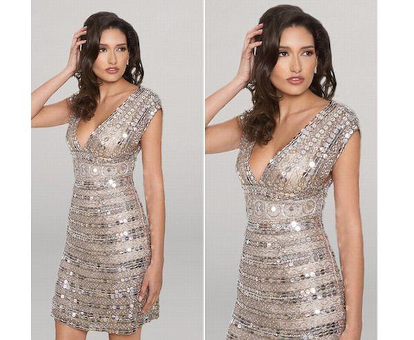 Platinum Paiette Cocktail Dresses