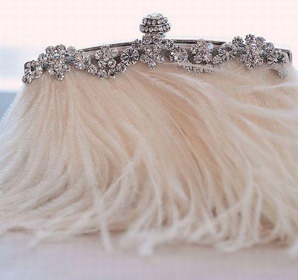 Rhinestone bridal clutch purse
