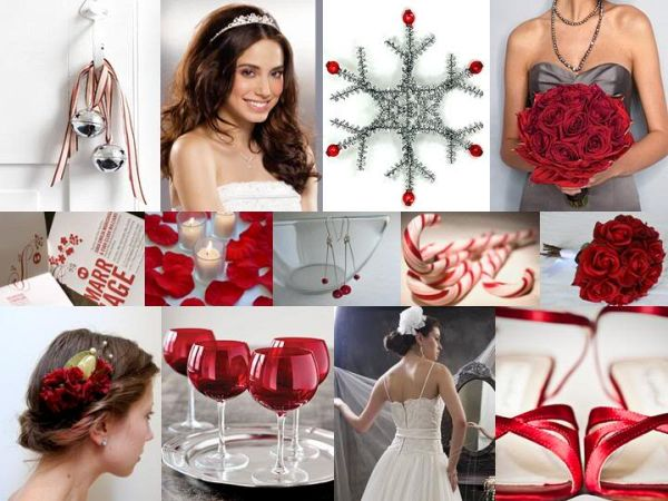 Snowflake themed Christmas wedding