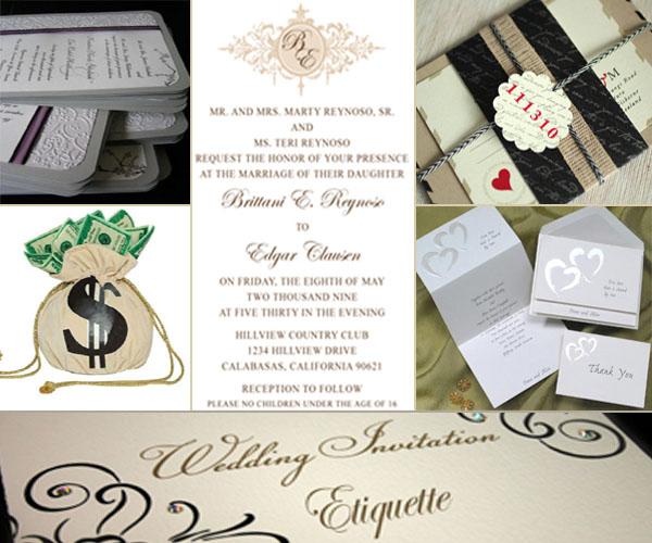 Celebrity Wedding Etiquette: A Few Important Wedding Invitations Etiquette!
