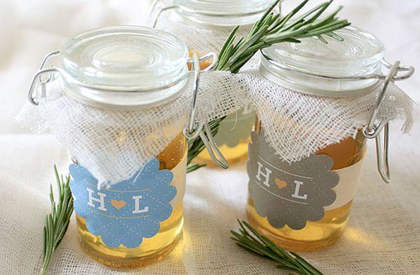 Diy Rosemary And Honey Jars Wedding Favors Wedding Clan