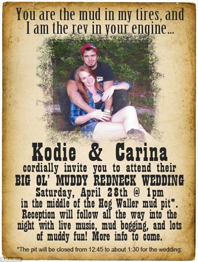 Redneck Couple Celebrates The Big Ol Muddy Wedding Wedding Clan