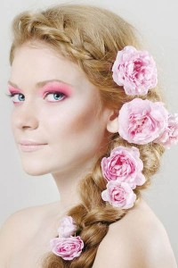 french-braid-crown-flowers