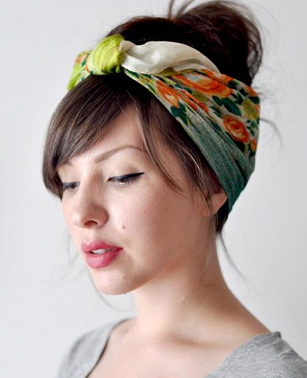 Easy Hairstyles Using Scarves