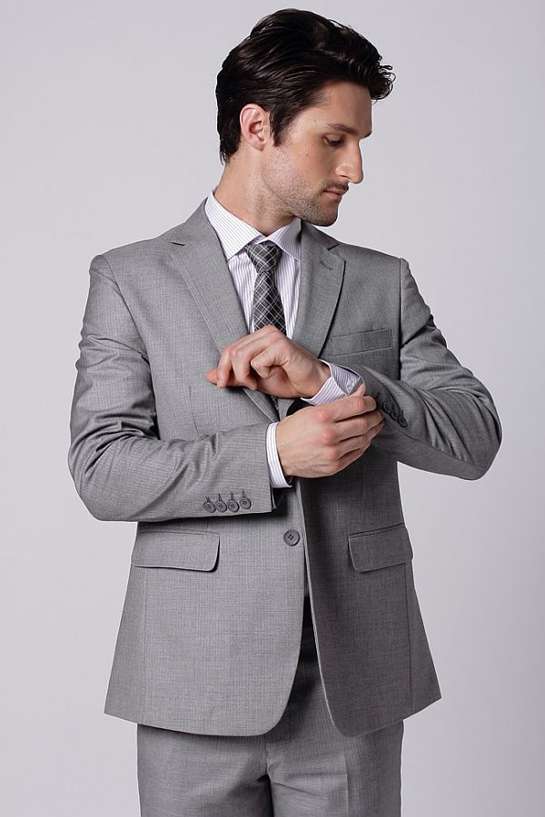 ash coloured suit for man