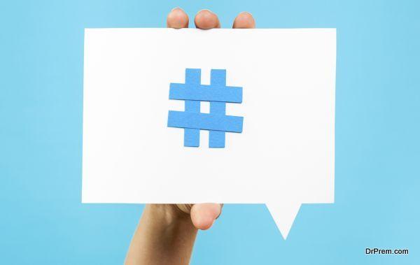 Hashtag notification concept