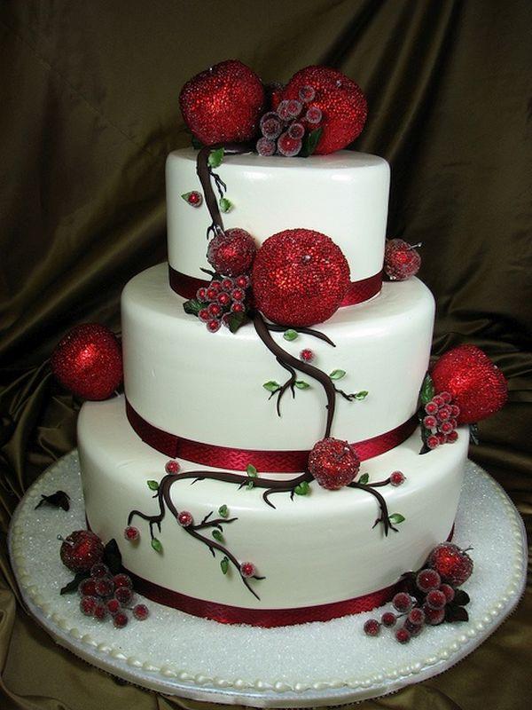 The Christmas wedding cake