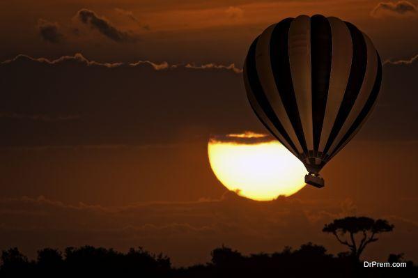 Balloon safari , sunrise