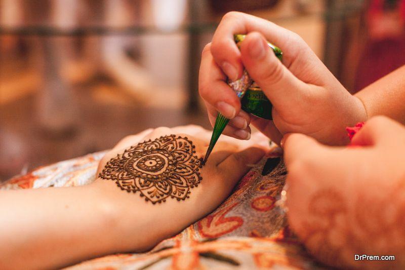 Mehndi and Haldi celebrations