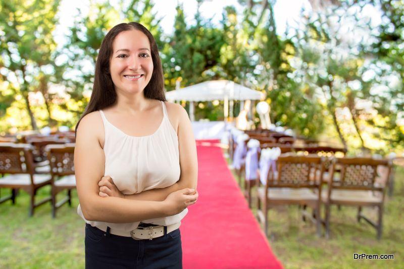 wedding planner smiling