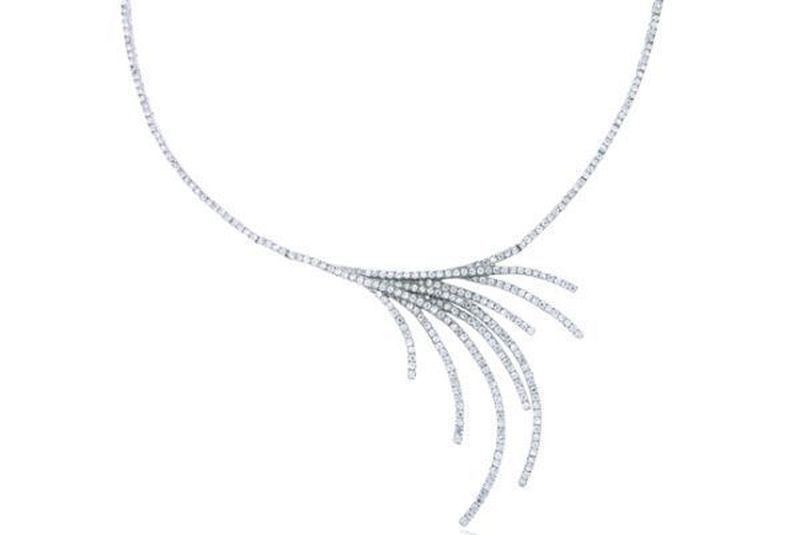 Dazzling diamond vintage necklace