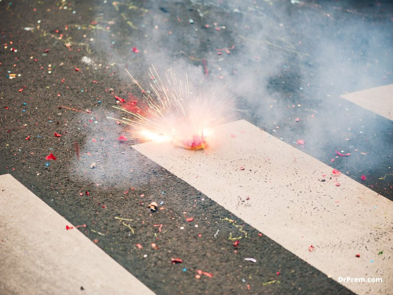 Avoid bursting crackers or doing anything that can pollute the environment