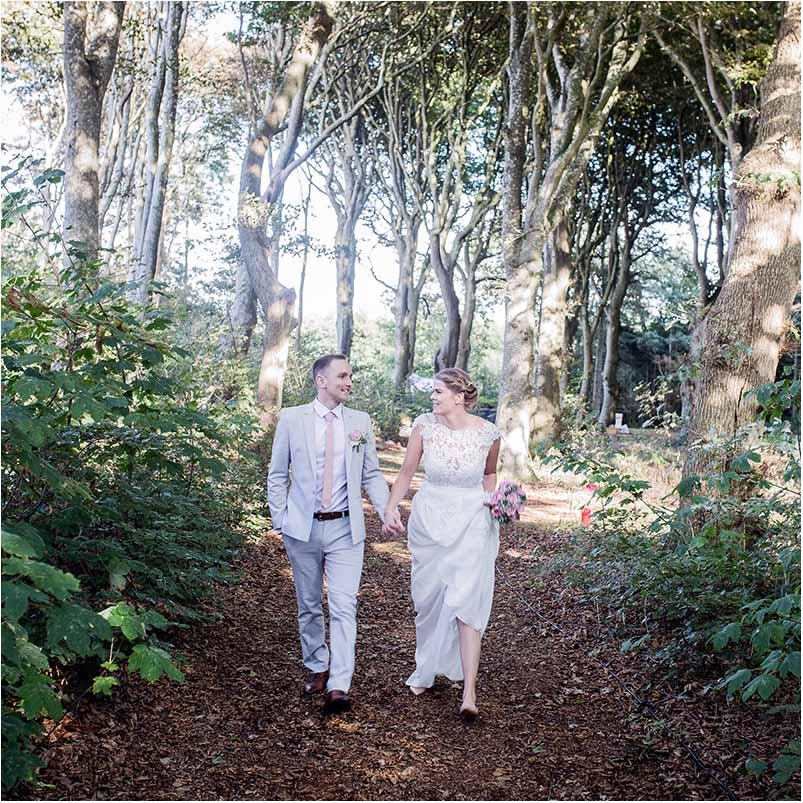 bryllupsfotografering i skoven