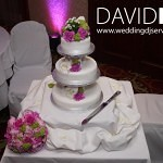 Worsley Wedding cake and uplighting