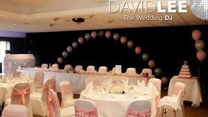 Hyde Wedding DJ Wedding Breakfast set up