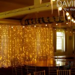 Warm White Festoons and Semi Naked Backdrop