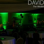 Halloween Wedding Party with Green Uplighting