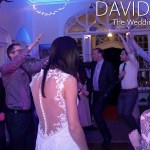 Jump and shout at Leighton Hall wedding