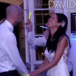 Lancashire wedding couple having fun on the dance floor