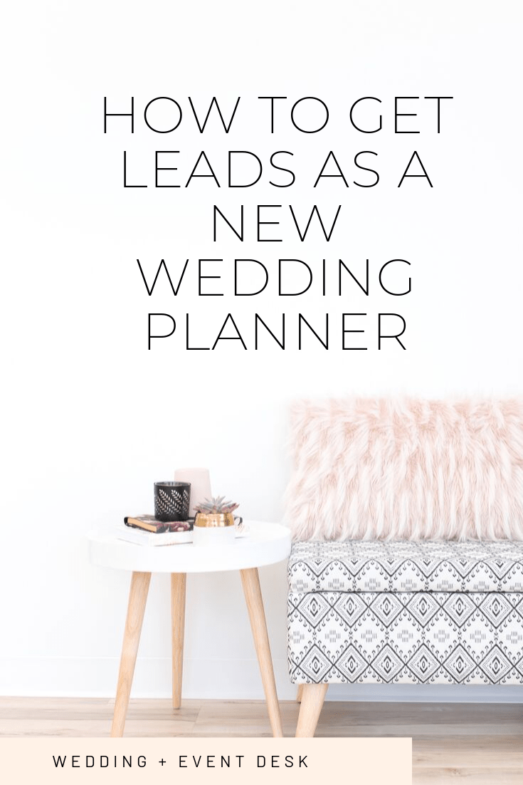 how to get leads as a new wedding planner