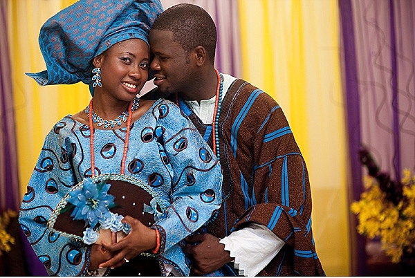 Nigerian Traditional Wedding Colour Scheme: BLUE