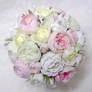 造花 結婚 ラウンドブーケ