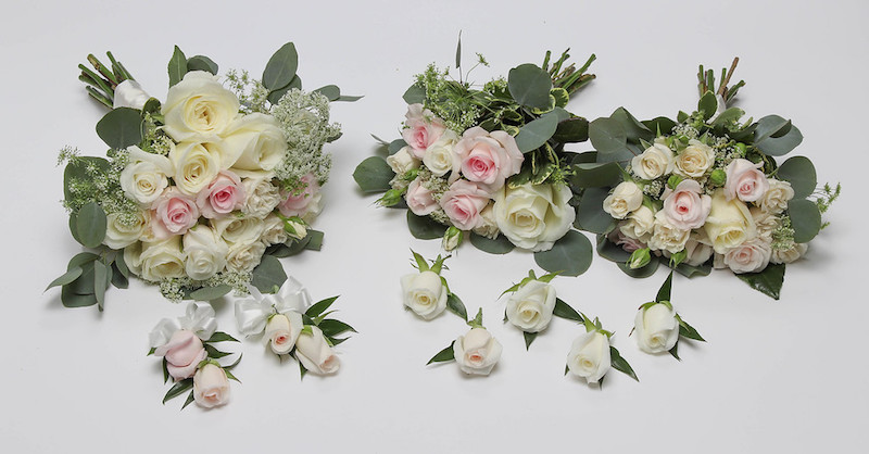 SHADES OF WHITE AND BLUSH ROSE PACKAGE