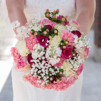 Watermelon and pink Bridal Bouquet