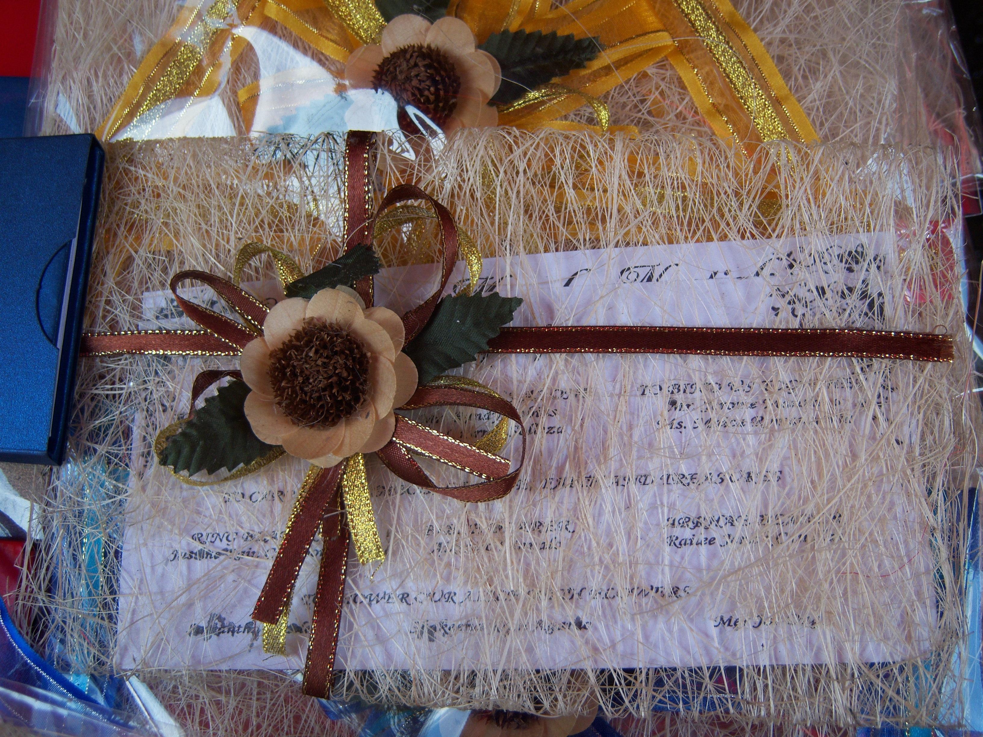 Wedding Invites With Indigenous Materials Craftandartss
