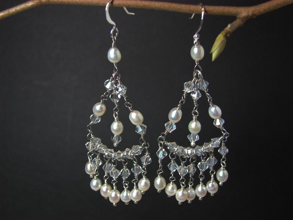 Pearl And Crystal Bridesmaid Earrings