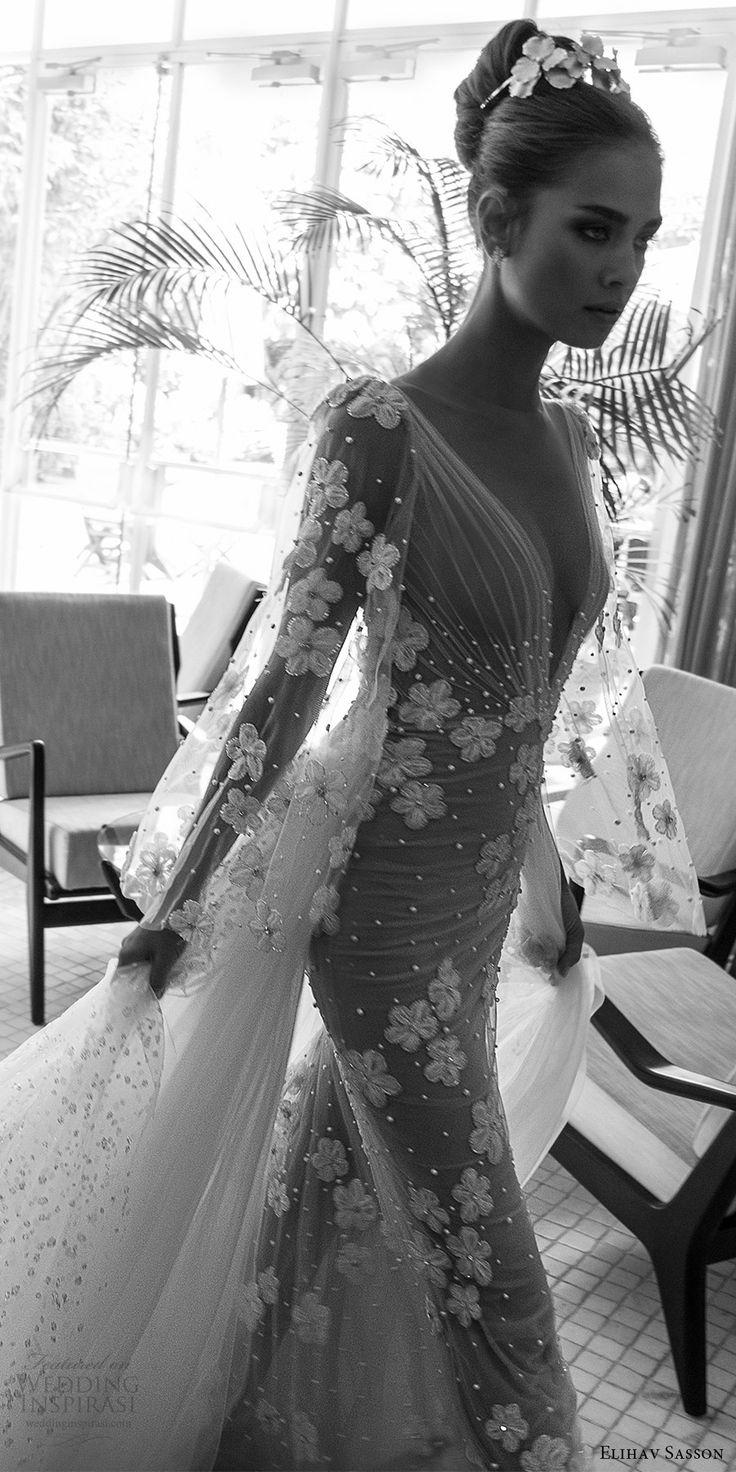 Sheath Wedding Dress Elihav Sasson Spring 2018 Bridal