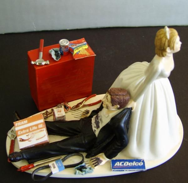 Brides Cars Nascar Racing Mechanic Car Tire Bride Groom