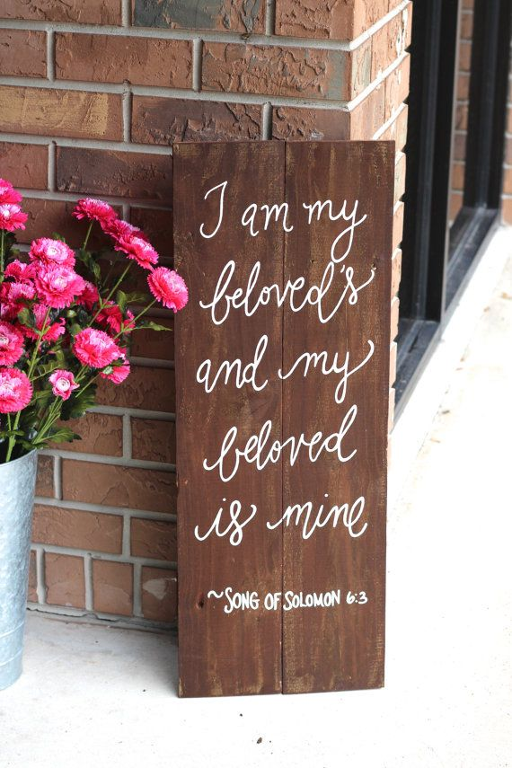 Wedding Quotes Rustic Wooden Wedding Sign My Beloved