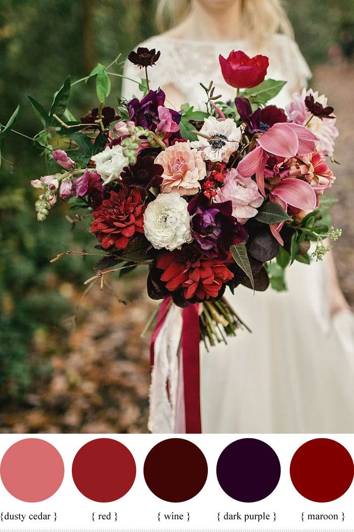 Wedding Quotes Dark Purple And Shades Of Red Autumn