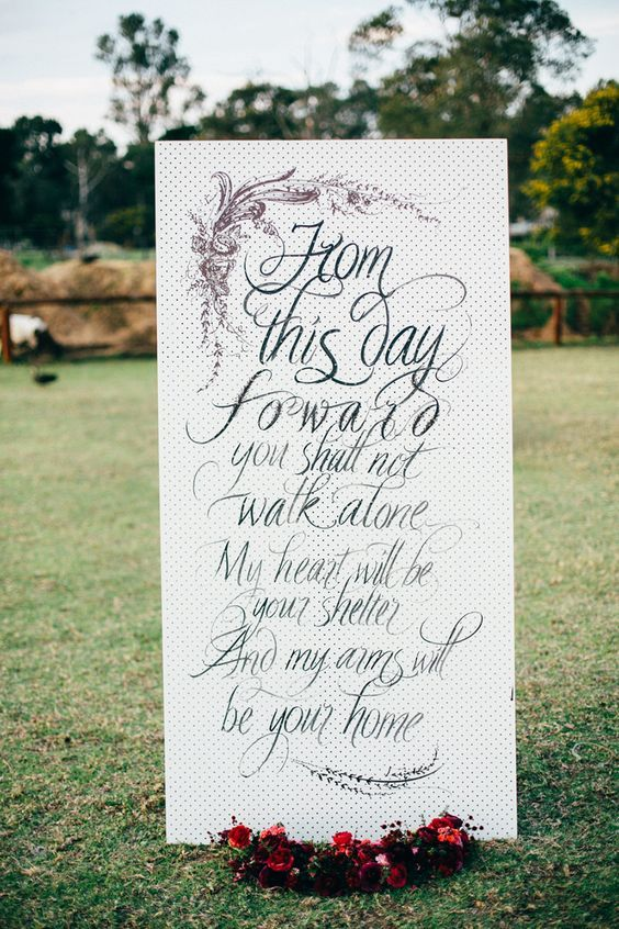 Wedding Quotes Giant Wedding Banner With Love Quote