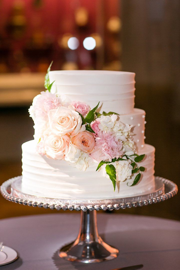 Wedding Cakes Pink Flower Wedding Cake Idea Featured
