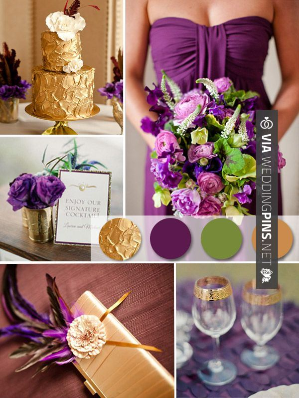 Wedding Cake Trends 2016 Purple And Gold Wedding Ideas